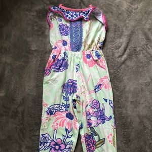 Matilda Jane Girls long pants Romper size 4 NWT
